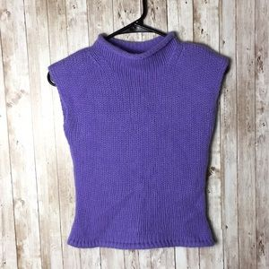 Guess 100% Cashemere Purple Sleeveless Top
